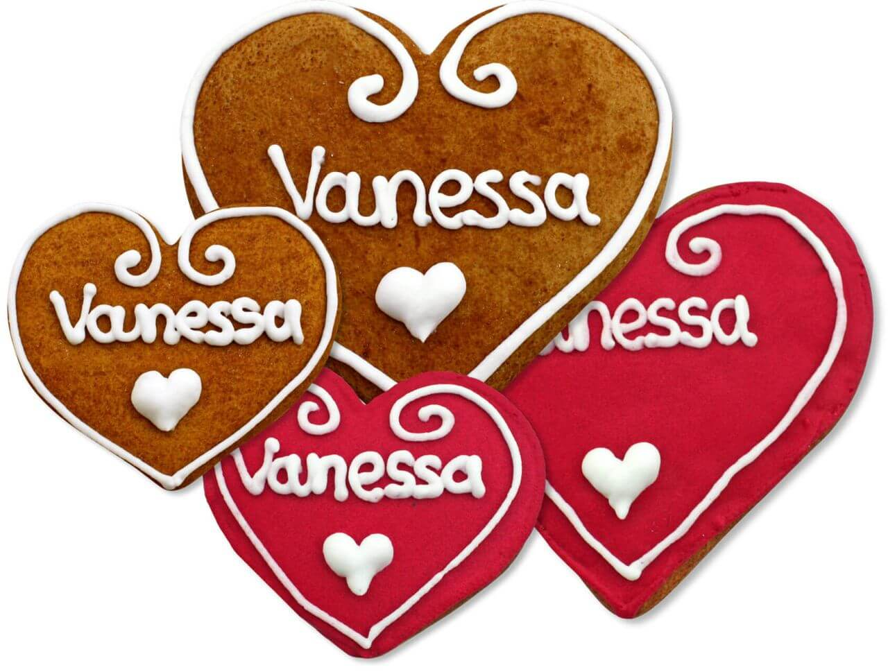 Gingerbread Heart Place Card Vanessa