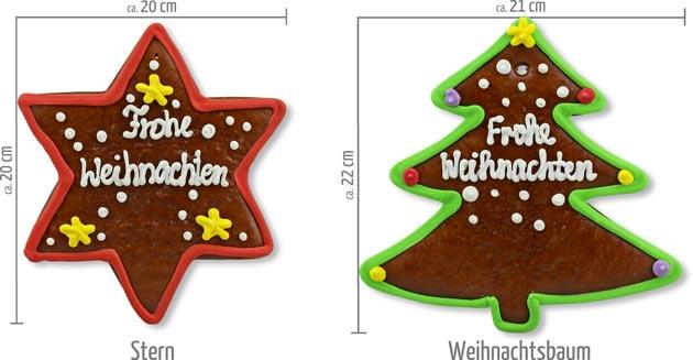 Lebkuchenstern und Lebkuchen-Weihnachtsbaum