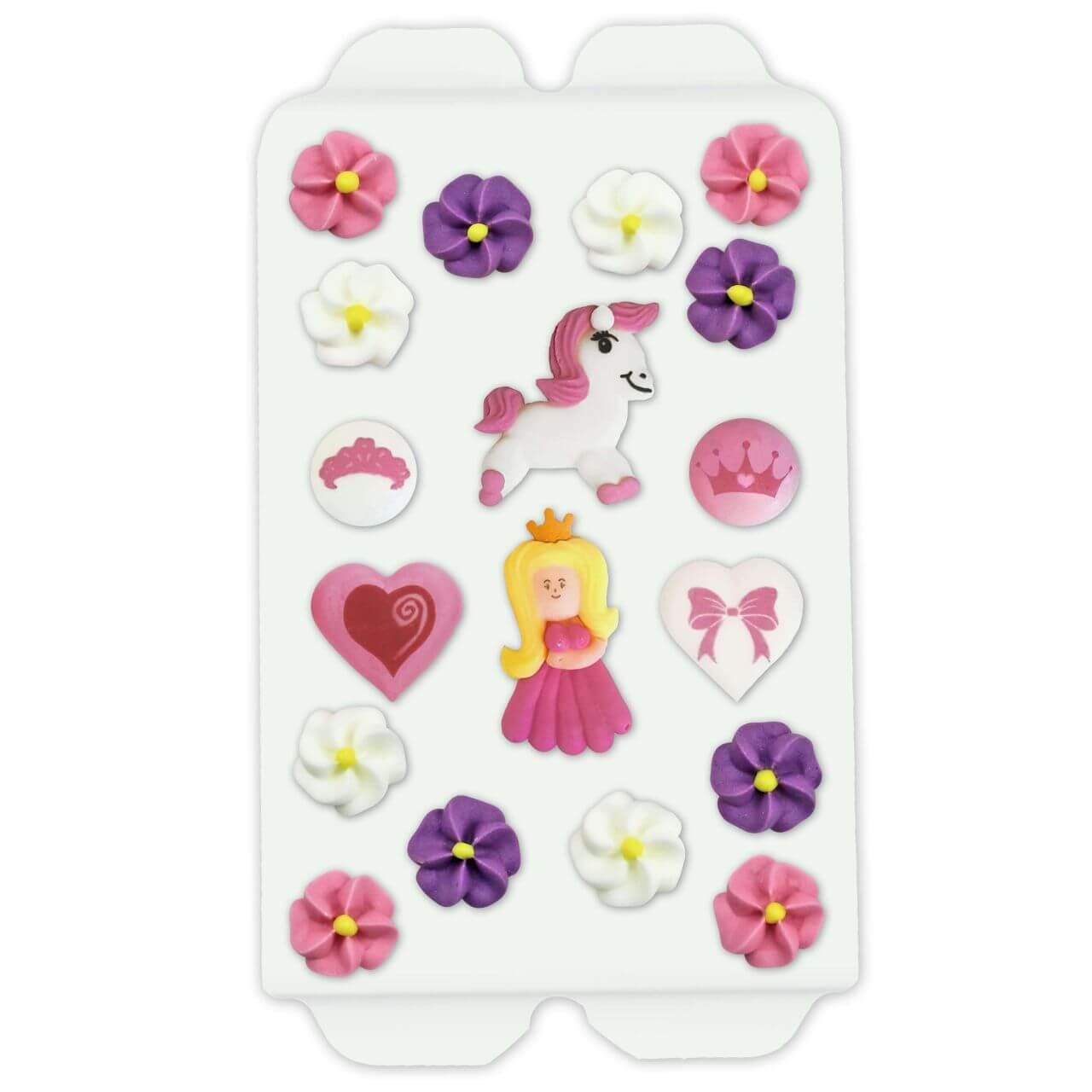 Cake decoration princess set, 16 pieces